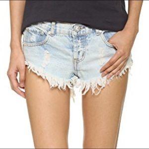 One Teaspoon Bonitas Cut Off Jean Shorts